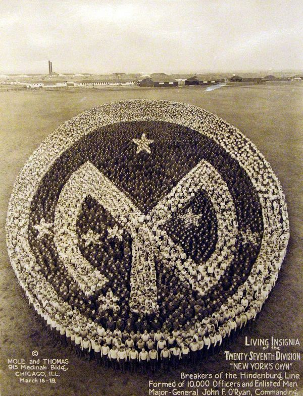 Living insignia of the 27th Division - Arthur Mole, 1915
