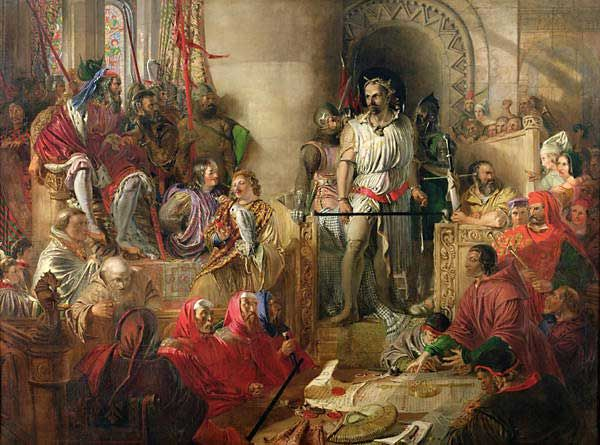 Veroordeling van William Wallace (Daniel Maclise)