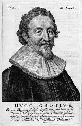 Hugo de Groot, Nederlands jurist met wereldfaam, blijkt ook een beeldende geschiedschrijver te zijn. (Illustratie: Kroniek van de Nederlandse Oorlog)