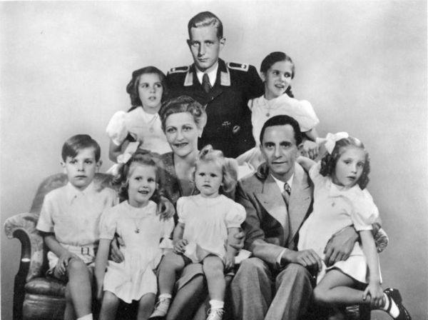 De familie Goebbels in 1942