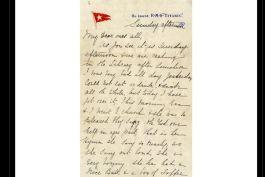 Historische brief van de Titanic geveild