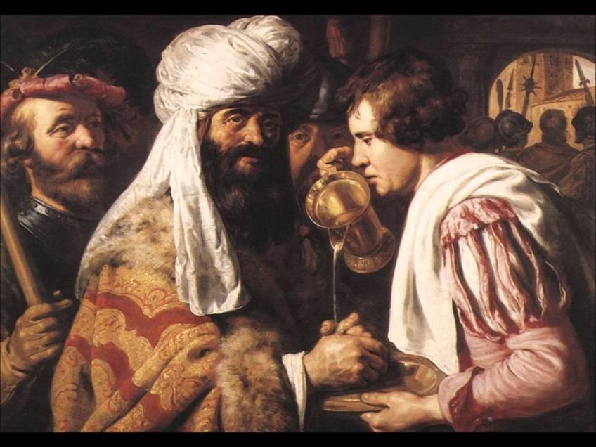 Pilatus wast zijn handen in onschuld - Jan Lievens, ca. 1624 (Lakenhal)