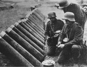Duitse gaswerpers (Bundesarchiv)