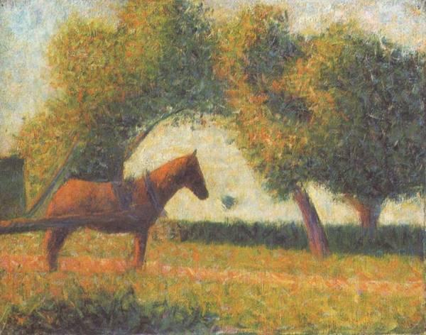 La Charette attelée - Georges Seurat, ca. 1883