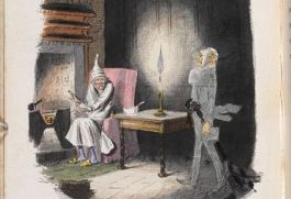 Tekening van John Leech in 'A Christmas Carol in prose', 1843 (British Library)