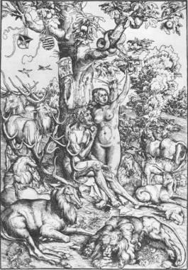 Houtsnede van Lucas Cranach de Oudere (1472-1553)