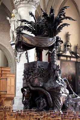 Preekstoel in de Kapellekerk - cc Michel Wal