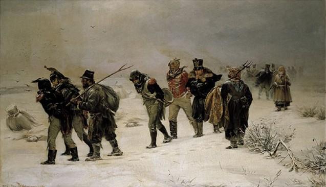 De dramatische terugtocht - Illarion Prjanisjnikov, 1812