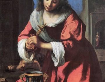Sint Praxedis, 1655 - Johannes Vermeer