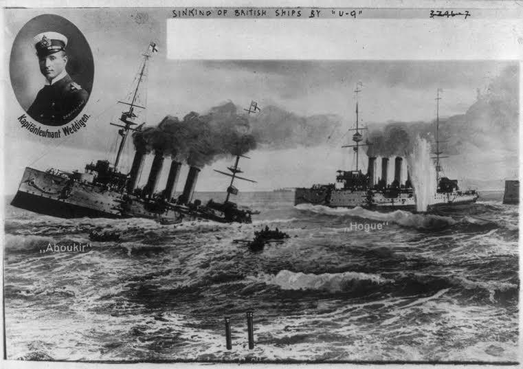 De zinkende schepen