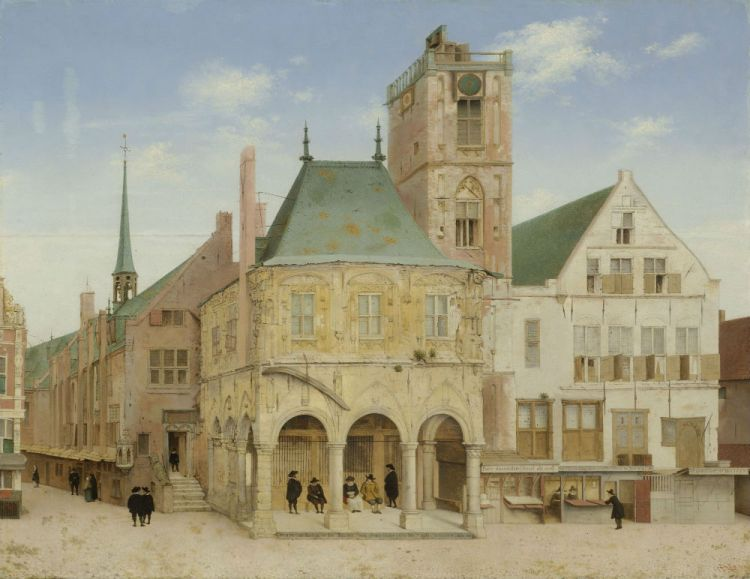 Het oude stadhuis in Amsterdam (Pieter Jansz. Saenredam 1657), onderdeel van de Collectie Amsterdam