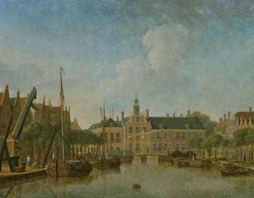 Het Zweedse Huis, de eerste ambassade van Zweden in Den Haag, gebwoud in 1614 (Jan ten Compe, collectie Haags Historisch Museum)