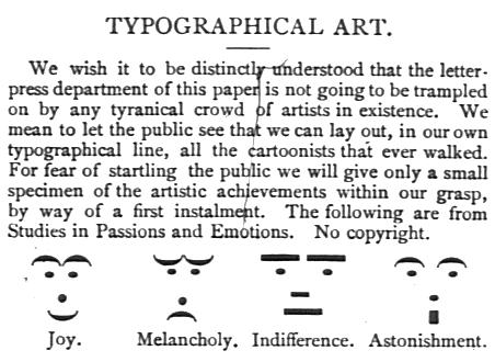 'Emoticons' uit  1881