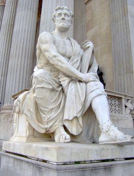 Beeld van Tacitus in het parlement van Wenen - cc