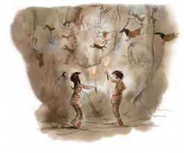 Bor en Veer bij enkele grottekeningen (Harmen van Straaten - ROM)
