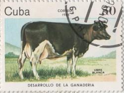 Ubre Blanca op een Cubaanse postzegel