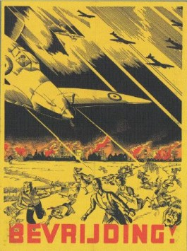 Op alle mogelijke manieren probeerde de Duitse propagandamachine - met realistische voorbeelden - angst aan te jagen voor het optreden van de geallieerden.