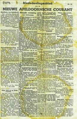 Het Mededeelingenblad van de Nieuwe Apeldoornsche Courant speelde een belangrijke rol bij het terugvinden van zoekgeraakte familieleden.