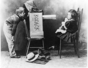Een amateurfotograaf, ca. 1907