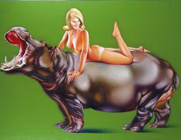 Mel Ramos - Hippopotamus