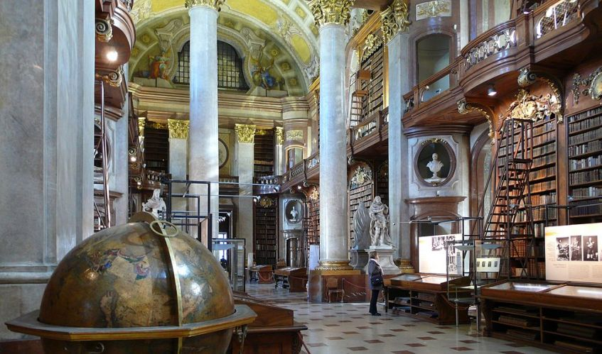 Pronkzaal van de hofbibliotheek in Wenen - cc