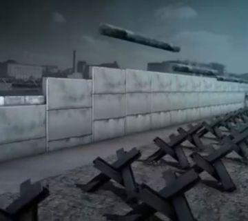 Still uit de animatie over de geschiedenis van de Berlijnse Muur