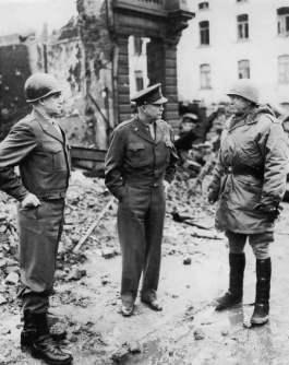 Bradley, Eisenhower en Patton