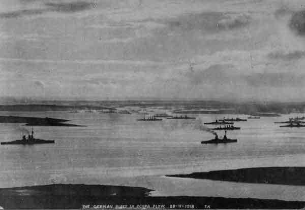 De Duitse vloot in Scapa Flow, november 1918