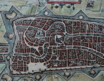 Een van de te veilen kaarten Utrecht; Lodovico Guicciardini - Trajectum - 1582