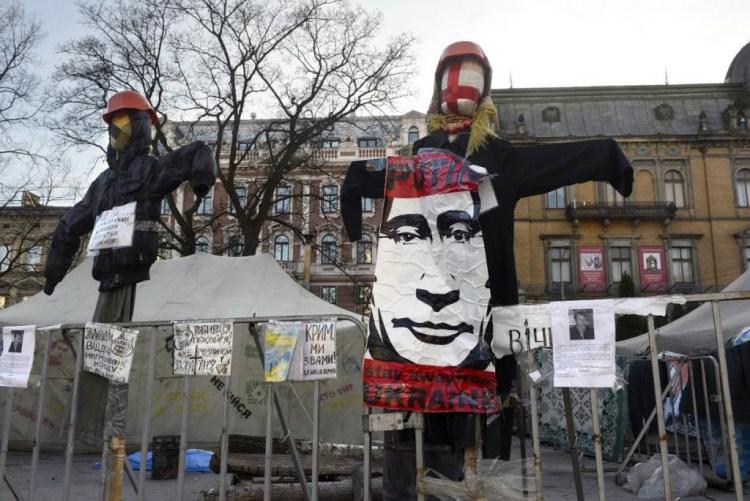 Anti-Russische protesten in Lviv. (Lviv, stad van paradoxen)
