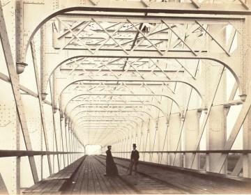 Brug over de Lek bij Culemburg (Kuilenburg), 30 augustus 1868, collectie Elisabeth Weeshuis Museum