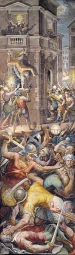 De Bartholomeusnacht door Giorgio Vasari