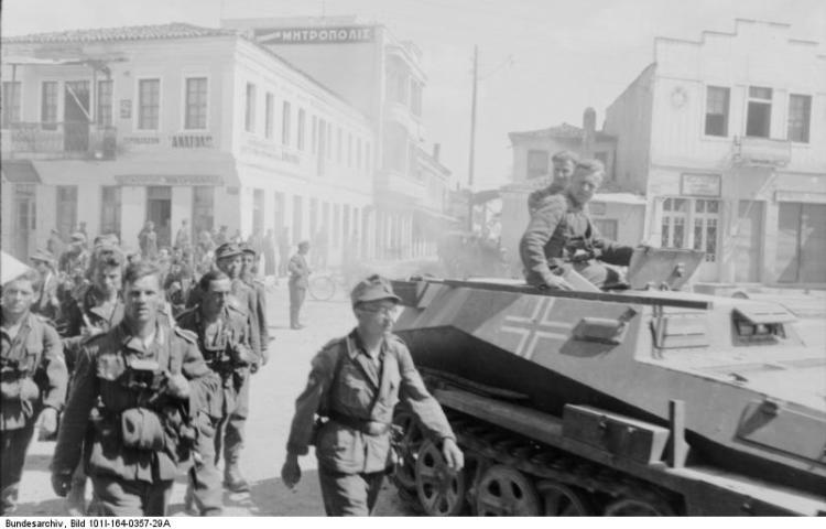Duitse troepen in Athene tijdens de Tweede Wereldoorlog - Bundesarchiv
