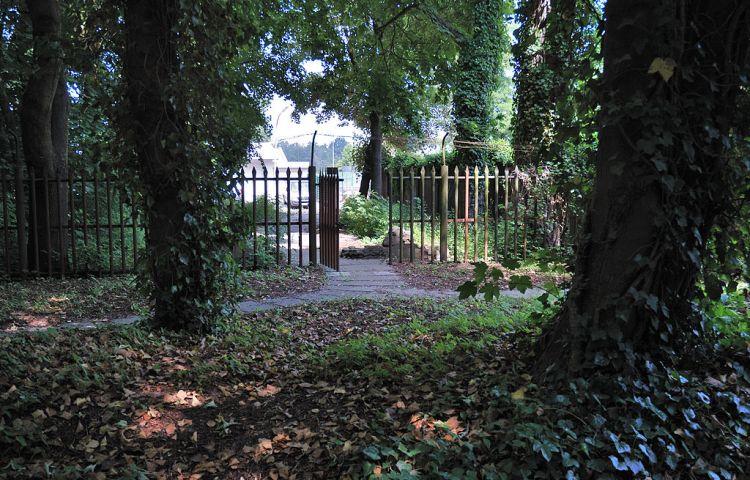 Ingang van het voormalige kamp in Schwerte - cc