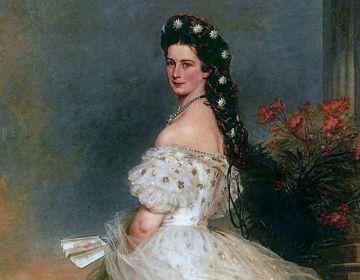 Portret van Elisabeth, Keizerin van Oostenrijk en Koningin van Hongarije door Franz Xaver Winterhalter