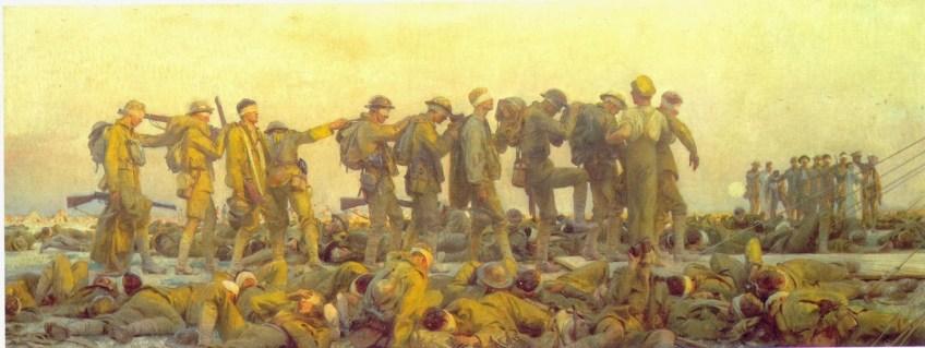 Slachtoffers van een aanval met gifgas