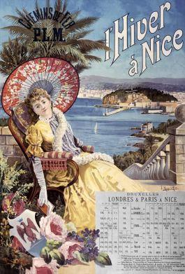 Affiche Winter in Nice door Hugo d'Alesi, 1891