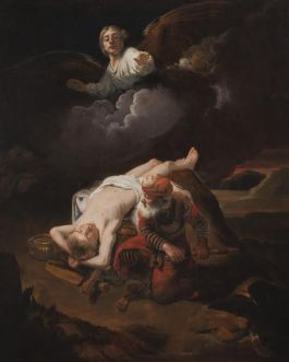 Nicolaes Maes – Het offer van Abraham, ca 1653