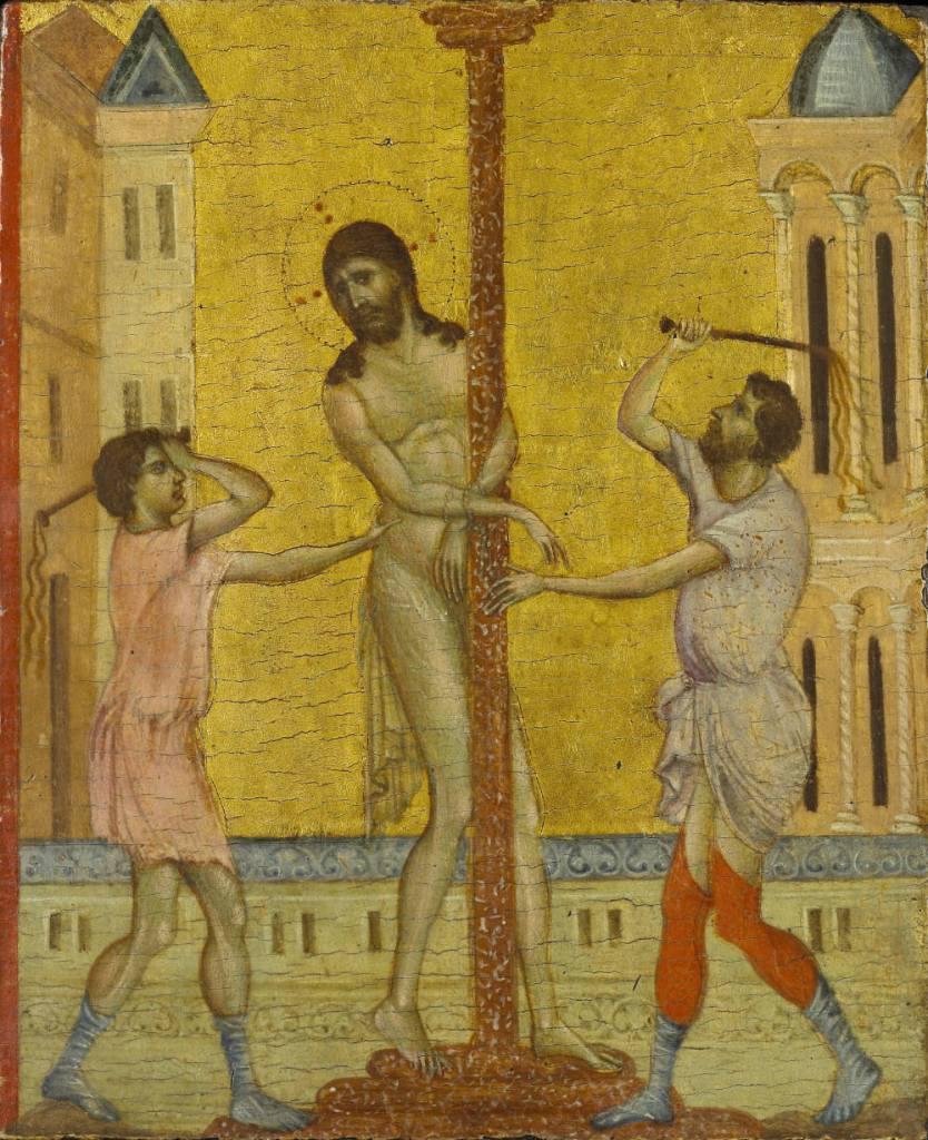 De geseling van Christus - Cimabue, ca. 1280 (The Frick Collection, New York; Foto: Michael Bodycomb)