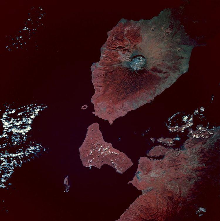 Vulkaan Tambora (NASA)