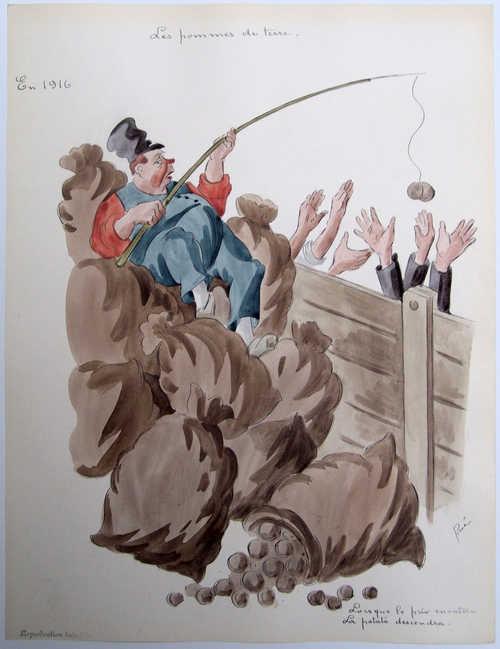 Aardappelen waren zeer gewijld tijdens de Eerste Wereldoorlog (In Flanders Fields)