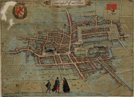 """Den Haag, 't Hoff van Hollant door Lodovico Guiccardini (uit """"Beschrijvinghe van alle de Nederlanden"""", 1612)."""