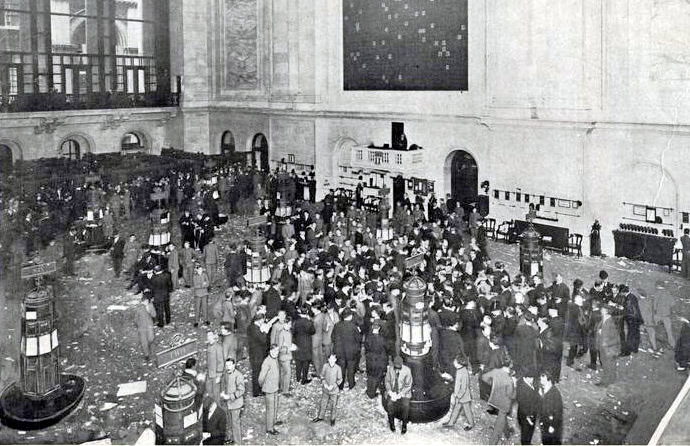 New York Stock Exchange in 1908 - cc
