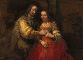 Rembrandt Harmensz. van Rijn - Portret van een paar als Oud-Testamentische figuren, genaamd 'Het Joodse bruidje'