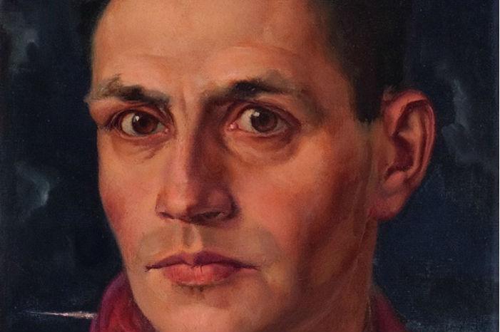 Zelfportret van Johan Ponsioen, circa 1940 (detail)