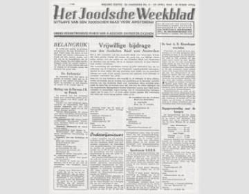 Het Joodsche Weekblad: uitgave van den Joodschen Raad voor Amsterdam