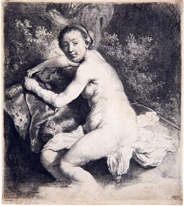 Diana badend - Rembrandt van Rijn