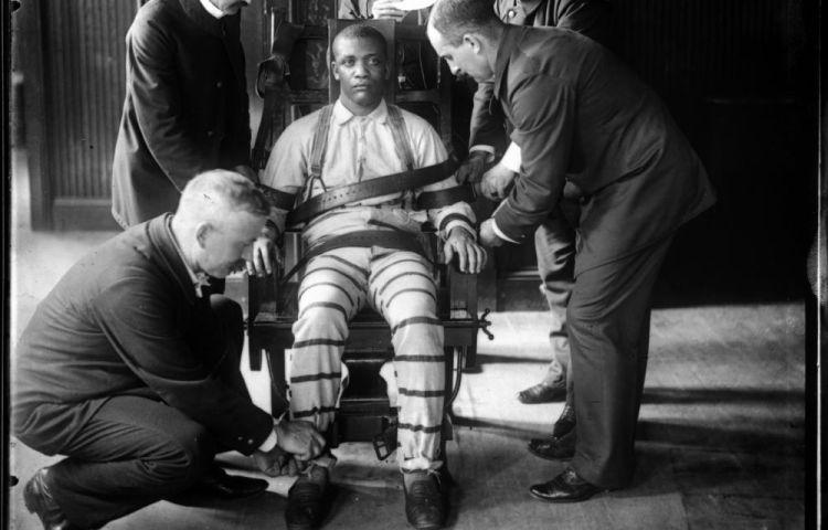 Elektrische stoel in Sing Sing Prison, ca. 1900
