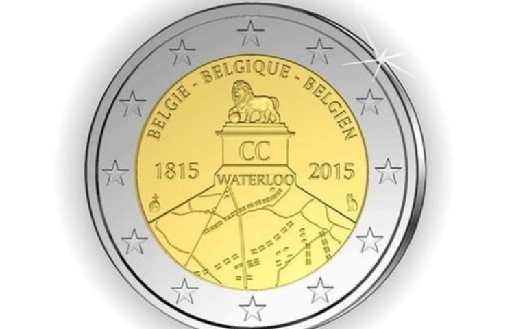 Euromunt ter herinnering aan de Slag bij Waterloo
