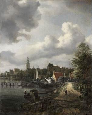 Het stadsgezicht van Jacob van Ruisdael